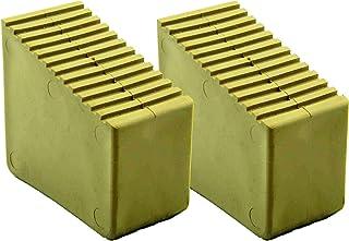 2 unidades. Patas de goma para escaleras de madera, 9-12 peldaños, dimensiones interiores 72 x 23 mm, color arena HB4