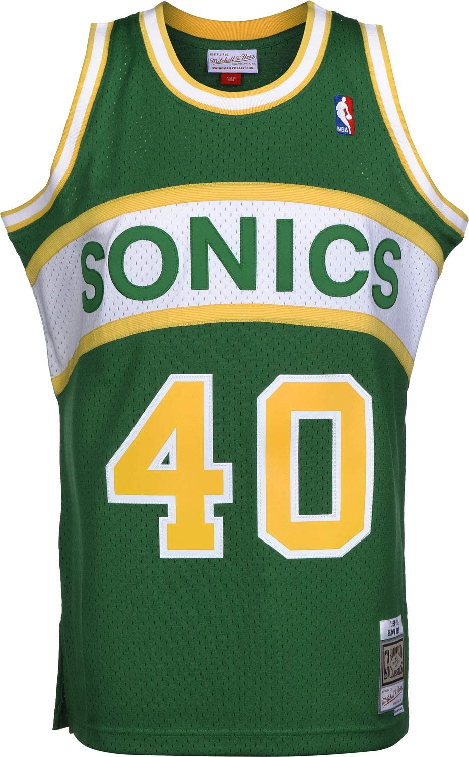 Mitchell 40% OFF Cheap Sale Ness Swingman Mesh Jersey Seattle Supersonics Free shipping anywhere in the nation 1994-95