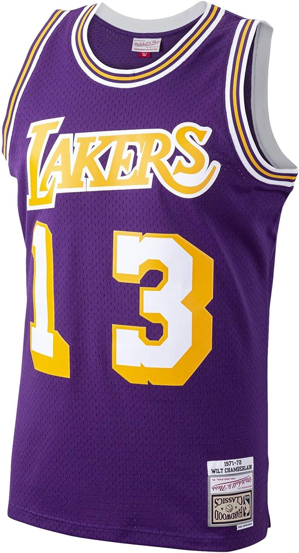 Wilt Chamberlain Los Angeles Lakers 1971-72 Swingman Purple Replica Jersey