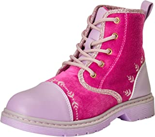 Disney Girls' Frozen 2 Lace Up Work Boots, Size 11 Little Kid, Red'