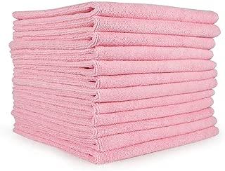 pink microfiber cloths