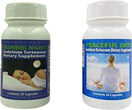 Peaceful Days and Tranquil Nights Sceletium Tortuosum Dietary Supplement