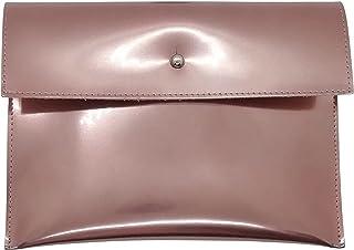 Lucy Shop Astuccio Pochette Artigianale Vera Pelle - Porta trucchi e documenti realizzato in cuoio – poscette cosmetici – ...