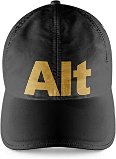 Alt Button Gamers Room Black Cap with Gold Print Gamer Boy Gift