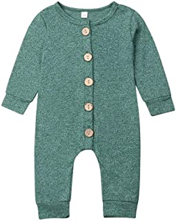 Newborn Baby Boy Girl Hooded Romper Bodysuit Cute Long Sleeve Solid Color One Piece Jumpsuit Outfits Clothes