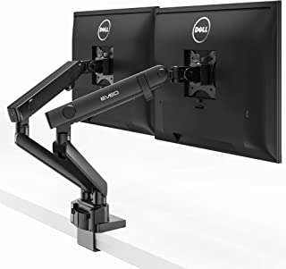 EVEO Premium Dual Monitor Mount Desk Arms - Monitor Arms for Dual Screens with Full Motion Spring Movement - Fit 17 Inch to 32 Inch VESA Compatible Screens