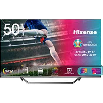 "Hisense 50U71QF Smart TV ULED Ultra HD 4K 50"", Quantum Dot, Dolby Vision HDR, HDR10+, Dolby Atmos, Full Array Local Dimming, Alexa integrata, Tuner DVB-T2/S2 HEVC Main10 [Esclusiva Amazon - 2020]"