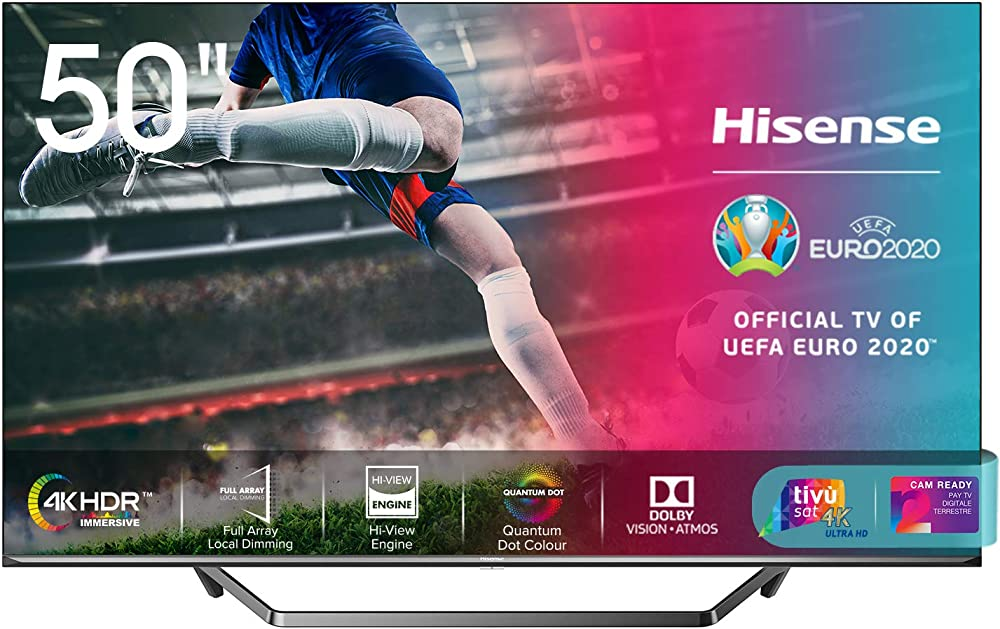 Hisense smart tv uled ultra hd 4k 50 pollici quantum dot, dolby vision hdr, hdr10+ 50U71QF