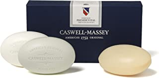 Caswell-Massey Plant-Based Bar Soap - Signature Presidential Collection - Fragrance Assortment of Almond, Fresh Citrus, Th...