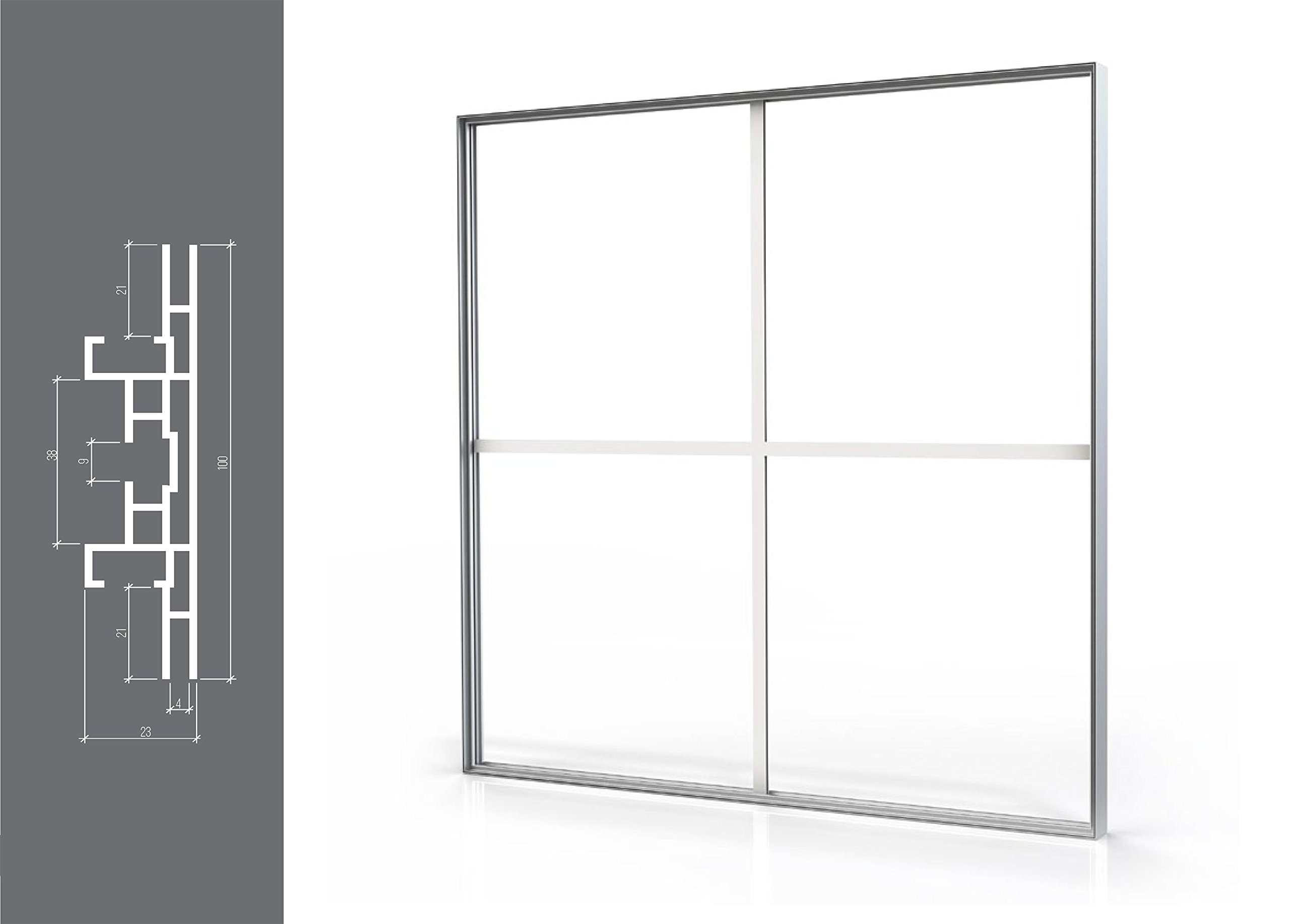 Marco para caja de luz con borde de tela de pie de doble cara, 100 mm, 200x100: Amazon.es: Oficina y papelería