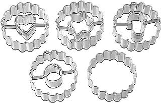 Ausstecher Ausstechform Linzer//Spitzbub`n Birne-2er-Set Edelstahl 3,3x4,3cm