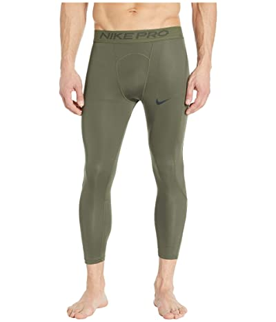 Nike Nike Pro Tights 3/4 (Cargo Khaki/Black) Men