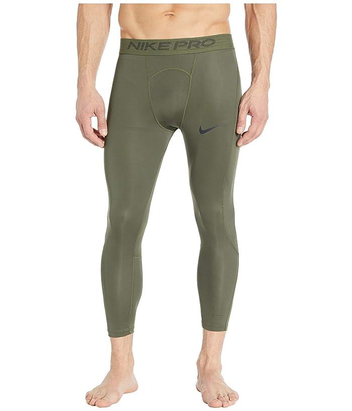 Nike   Pro Tights 3/4 (Cargo Khaki/Black) Mens Casual Pants