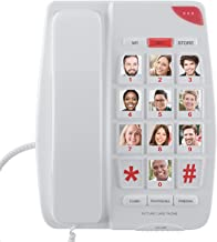 Home Intuition Amplified Picture Dial Corded Telephone with Extra Loud Ringer