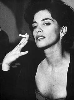 A Portrait Of Annabella Sciorra Smoking A Cigarette Photo Print (24 x 30)