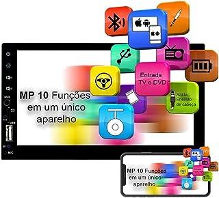 """Central Multimídia Mp10 Player 7"""" 2 Din BT/USB/FM Comando Volante Espelhamento Android e IOS Voolt C8001"""