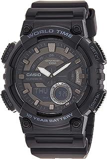 ساعة كاجوال بعرض انالوج-رقمي للرجال من كاسيو موديل AEQ-110W-1BV