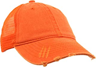 Unisex Distressed Low Profile Trucker Mesh Summer Baseball Sun Cap Hat