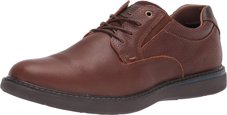 Nunn Bush Men's Bayridge Plain Toe Lightweight Leather Lace-Up Oxford