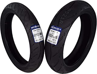 Metzeler Sportec M5 Front and Rear Radial Sport Bike Motorcycle Tires 2 Pack Set (110/70ZR17 Front 150/60ZR17 Rear)