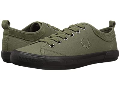 Fred Perry Horton Waxed Canvas/Suede (Burnt Olive) Men