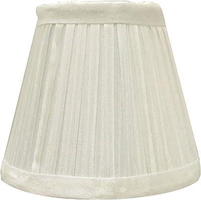 Creme Mushroom Pleat Lamp Shade 12x18x18 Spider