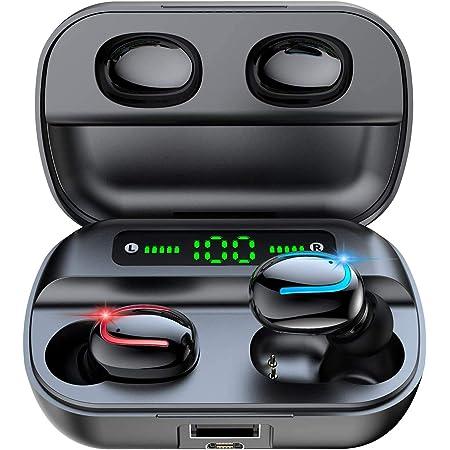 ワイヤレスイヤホン bluetooth イヤホン 5.0 完全 ワイヤレス イヤホン 瞬時接続 ノイズキャンセリング ハンズフリー通話 高音質 IPX7防水 両耳 片耳 左右分離型 自動オンオフ 自動ペアリング カナル型 ランニング コードレスイヤホン bluetoothイヤホン スポーツ マイク付き ぶるーとーすイヤホン TWS ワイヤレスイヤフォン 超軽量 ブルートゥース イヤホン bluetooth earphone