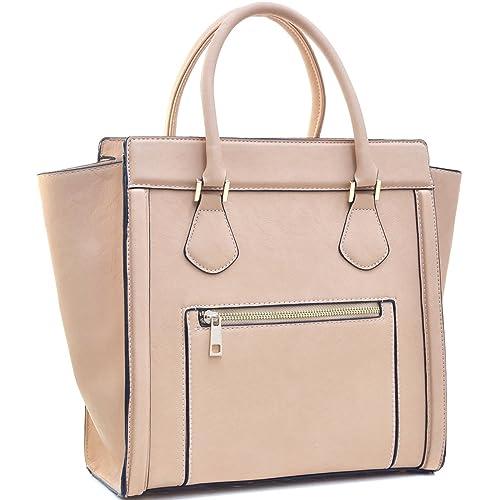 ba30154f7a1c Dasein Women s Handbags Satchel Bags Vegan Leather Handbags Tote Micro  Luggage