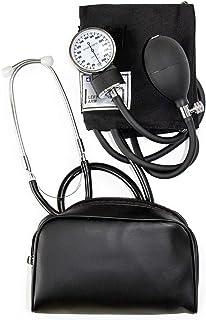 مانیتور فشار خون دستی HealthSmart برای بازوی بالغ بزرگسالان ، اندازه استاندارد اندازه کاف 10-14 اینچ با استتوسکوپ ضمیمه ، سیاه