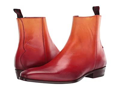 Jeffery-West Capone Low Cuban Heel Zip Boot (Red) Men