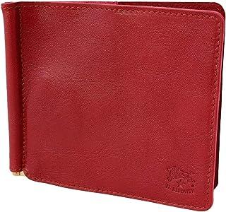 [イルビゾンテ] IL BISONTE イルビゾンテ 財布 C0471 EP 245 二つ折り財布 カードケース マネークリップ レザー Rosso ロッソ レッド系 [並行輸入品]