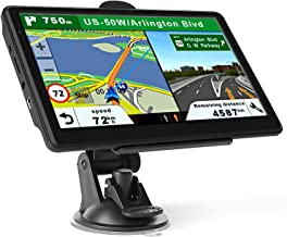 GPS Navigation for Car Truck, Latest Map Touchscreen 7 Inch 8G 256M Navigation System with Voice Guidance and Speed ??Camera Warning, Lifetime Free Map Update