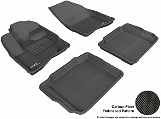 3D MAXpider Complete Set Custom Fit All-Weather Floor Mat for Select Ford Taurus Models - Kagu Rubber (Black)