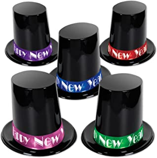 """Beistle Top Eve Hats for New Year Party, 7.5"""", Multicolored"""