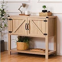 طاولة بوفيه داخلية من تينغ، طاولة أريكة وطاولة وطاولة تخزين خشبية مع بابين ورف واحد للمطبخ، وغرفة المعيشة