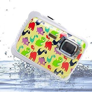 Vmotal GDC5262 Impermeable cámara Digital con Zoom Digital de 8X / 8MP / 2 TFT LCD de la Pantalla/Cámara Impermeable para niños (Pequeño Dinosaurio)