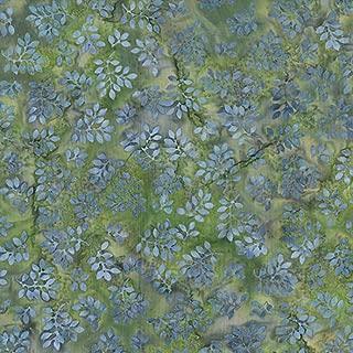 Hoffman Fabrics McKenna Ryan Designs Bali Batik Big Leaf Lavender