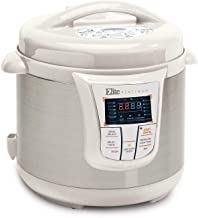Elite Platinum 8 Quart 14-in-1 Multi-Use Programmable Pressure Cooker, Slow Cooker, Browning, Rice Cooker, Sauté, and Warmer with a 24-hour Delay Timer (White)