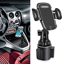 MARRRCH Car Phone Mount,Air Vent Phone Holder Cup Holder Phone Mount Gooseneck Cup Holder Cradle Car Mount for iPhone 11 Pro Max XR Xs Max Xs X 8 7 6 Plus, Samsung Note 10 S10+ S1 (Black)