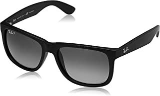 Ray-Ban Justin Classic Sunglasses,55mm,Black Rubber/Polar...