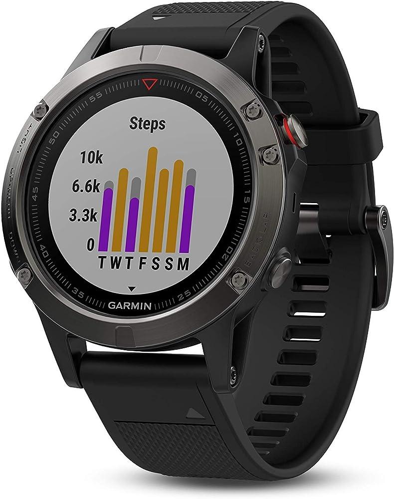 Garmin fenix 5 orologio sportivo, impermeabilità 10atm 010-01688-00