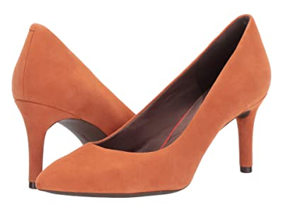 Rockport Total Motion 75mm Pointy Pump (Persimmon) Women
