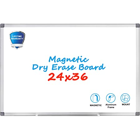 1//2 Pack Magnetic Whiteboard 36 x 24 inch Dry Erase White Board Wall Board Gifts