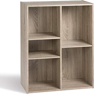 Alsapan Compo Meuble de Rangement 5 Casiers Bibliothèque Etagères Cubes Chêne 78,8 x 61.1 x 29.5 cm