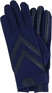 Isotoner Women's Unlined Touchscreen Leather Palm Driving Gloves, Small/Medium