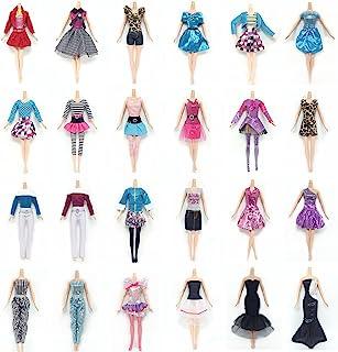 Lance Home 10 Vestidos, 10 Pares de Zapatos, 10pcs Bolso para la Muñeca de 29cm Muñecas Regalos para Niños, Estilo al Azar (30pcs)