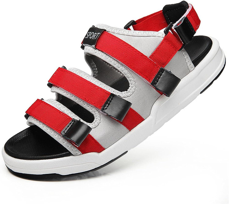 3de4cec52 Men's Sandal Breathable Sandals Beach shoes Magic Stick Sandals Student  Anti-Skid Breathable