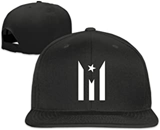 NKF Fashion Puerto Rico Resiste Boricua Flag Adjustable Flat Brim Baseball Cap