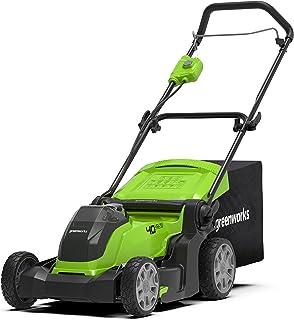 Greenworks 40 V trådlös gräsklippare med 50 l gräslåda, 2 x 2 Ah batteri och laddare, 2-i-1 Endast verktyg (inget batteri ...