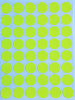 Royal Green Neon Color Coding Labels 3/4